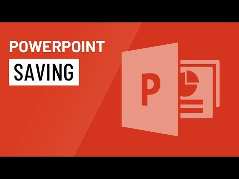 PowerPoint 2016: Saving Presentations