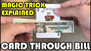 Card Through Bill Trick Explained