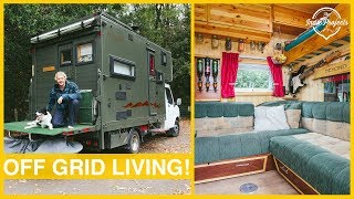 His Luton Box Van Conversion is BEAUTIFUL! Van Tour