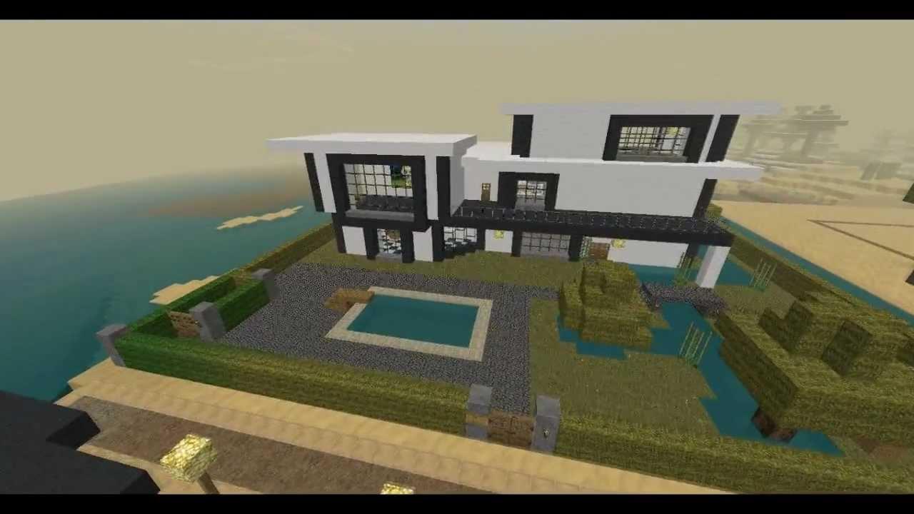Minecraft villa moderne 1