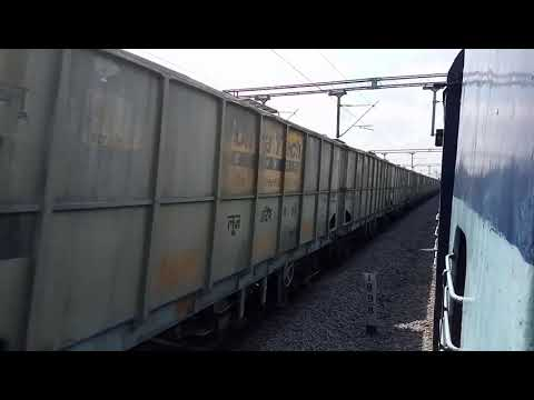 Full Speed Fright Train with ULTRATECH CEMENT wagons ( BCW )