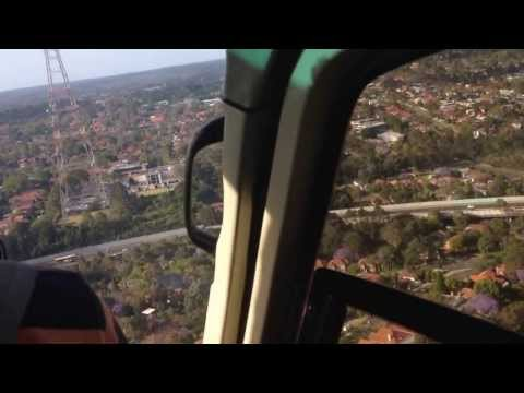 Landing at TCN 9 Television Studio, Willoughby (Sydney)