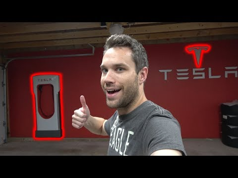 I Got A TESLA Supercharger In My Garage!