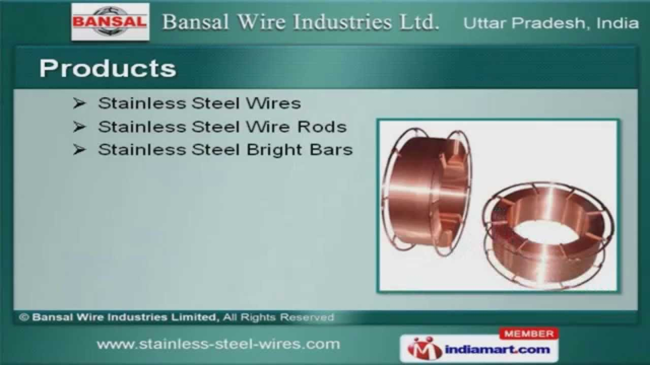 Cold Heading Wires by Bansal Wire Industries Limited, Howrah - YouTube