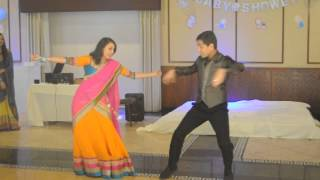 Parin Sachi couple dance babyshower