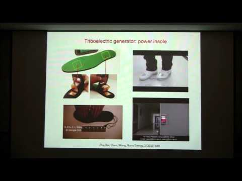 Tutorial video on triboelectric nanogenerators by Prof. Zhong Lin Wang