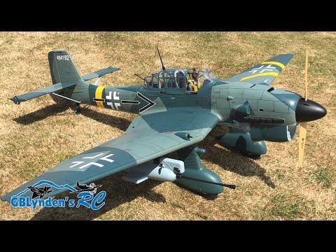 Robert's Giant Scale Phoenix Model Stuka Ju 87 61cc GasEP ARF RC Warbird