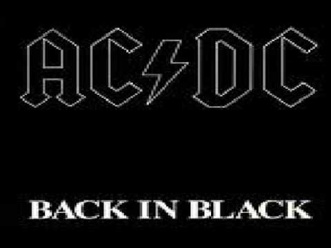AC/DC - BACK IN BLACK MUSIC WITH LYRICS