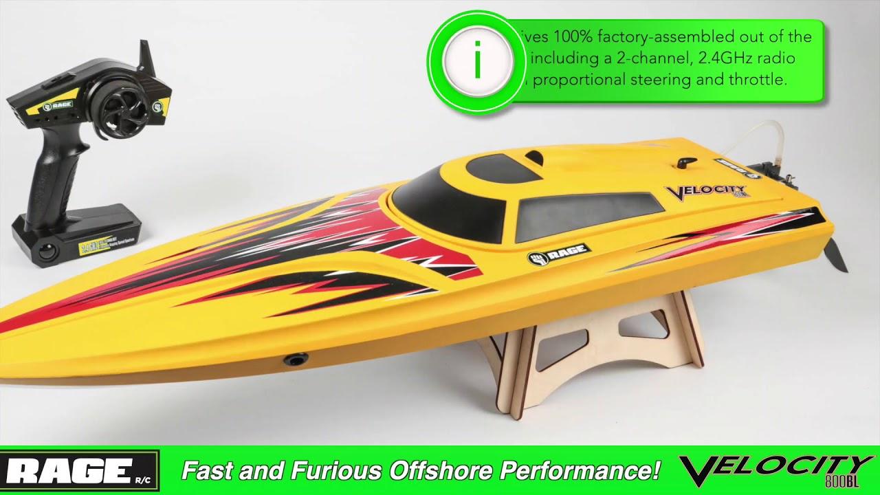 Rage R/C - Velocity 800 Brushless Ready-to-Float R/C Boat
