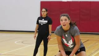 EWU Volleyball 1st Day of Practice
