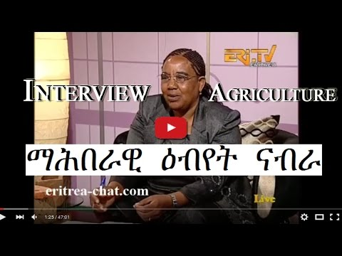 Eritrean Debab Interview - Mebrat Abraham from Ministry of Agriculture - Eritrea TV