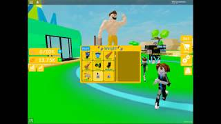 I spent more than 30,000 with objects and genetics [lifting simulator]-ROBLOX EP. 2