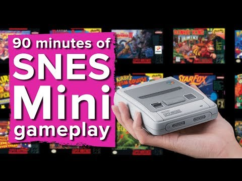 90 minutes of Nintendo Classic Mini: SNES gameplay - Live st