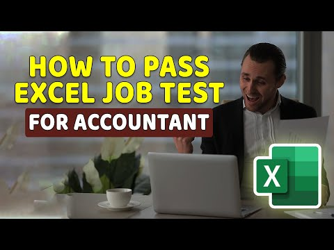 How To Pass Excel Test For Accountant Job Application: Questions And Answers