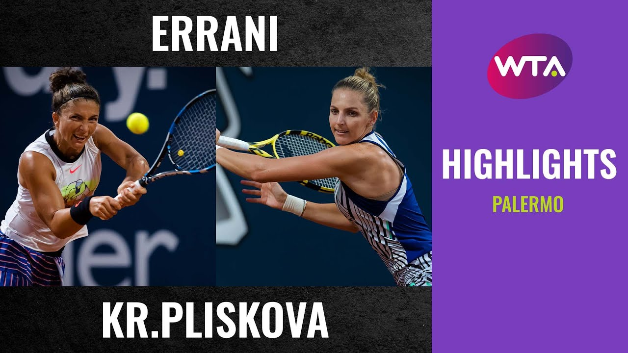 Sara Errani vs. Kristyna Pliskova | 2020 Palermo Second Round | WTA Highlights