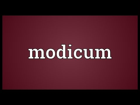 Header of modicum