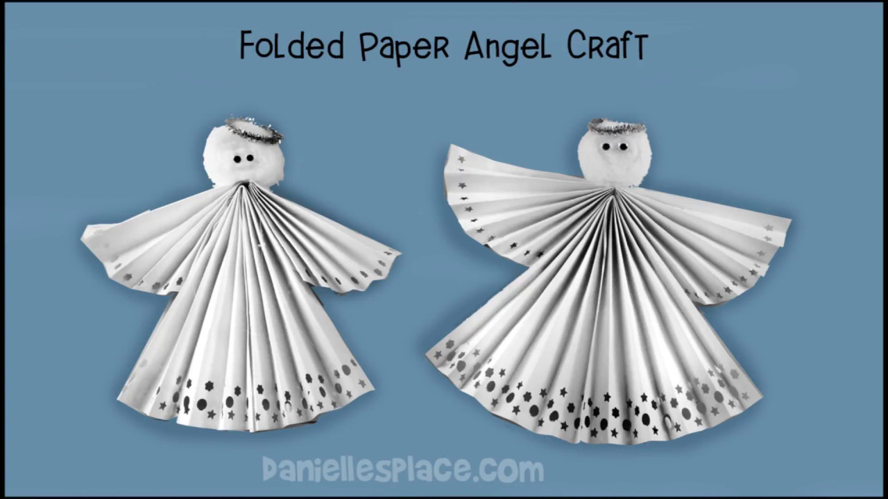 Uncategorized Paper Angel Crafts folded paper angel craft youtube