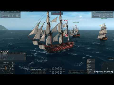 Naval Action] British Rear Admiral Fleet Mission with Five Players | Sep 21, 2016