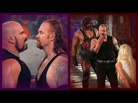 The Undertaker W/ Sara Vs Albert (Kane Helps Take Out DDP U0026 Albert)! 7/2/01
