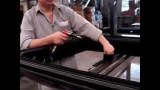 Máy cắt tự động - cắt lắp nghép nhôm mặt dựng tại nhà máy, mặt dựng nhôm kính