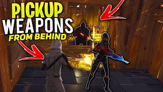 *NEW SCAM* The Pickup Weapons From Behind SCAM! (Scammer Gets Scammed) In Fortnite Save The World