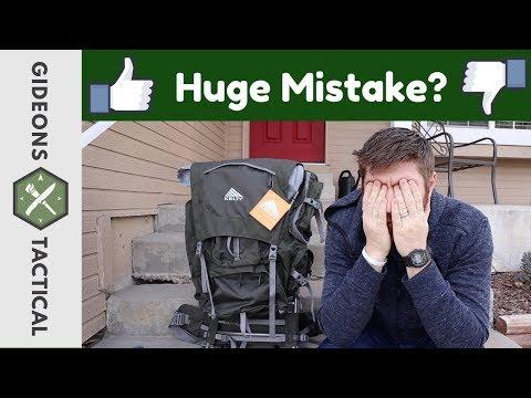 Huge Mistake? External Frame Pack Kelty Tioga 5500