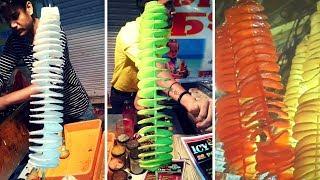 Potato TwisterSpiral Fries Making at Street of Indore Sarafa Bazar, Tornado Stick