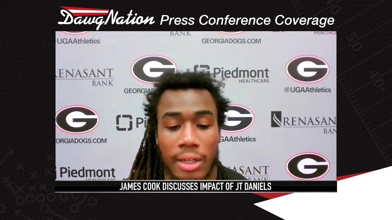 Download James Cook discusses his 2 touchdown game against South Carolina