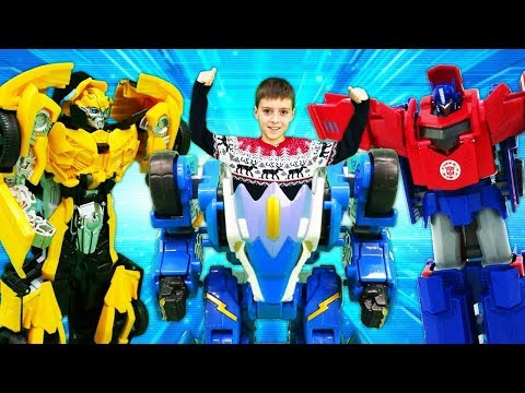Трансформеры в мастерской Сборник - Оптимус, Бамблби и другие. Игры для мальчиков Transformers