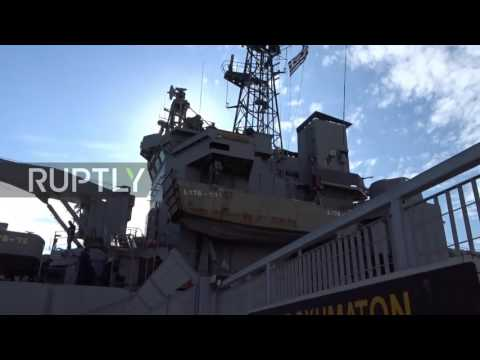 Greece: Warship arrives on Lesbos to shelter refugees facing freezing temperatures