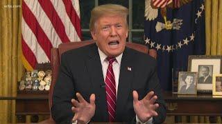 President Trump argues for border wall funding: full speech on January 8, 2019