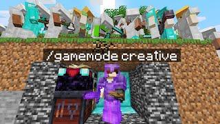 Minecraft Manhunt but I used CREATIVE mode secretly...