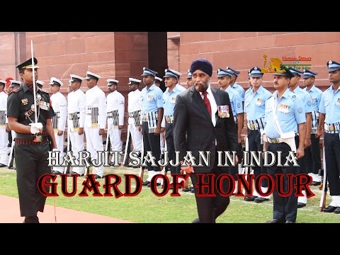 Harijit Sajjan, Minister of National Defence of Canada, Given Guard of Honour In New Delhi