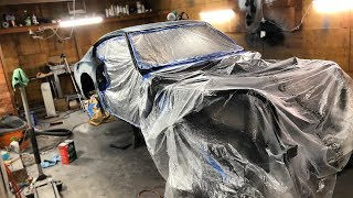 Unveiling The 240z Wrap Color, Undercoating The Body, And Engine Work!!