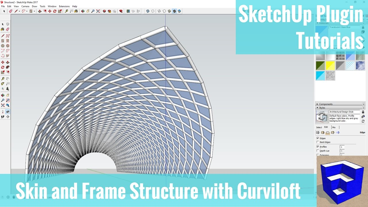 Creating A Frame And Skin Structure In Sketchup With