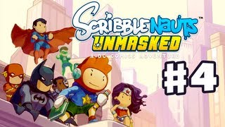 Scribblenauts Unmasked - Gameplay Walkthrough Part 4 - Wayne Manor (PC, Wii U, 3DS)