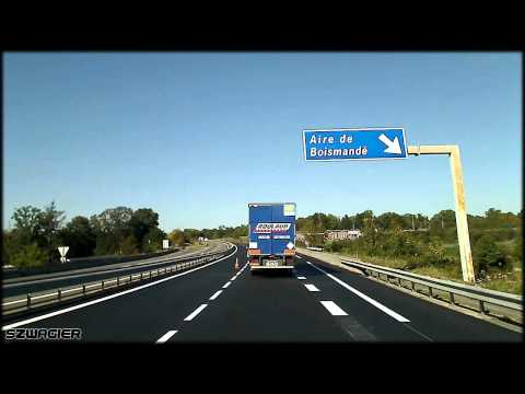 321 - France. Autoroute L'Occitane A20 E9 - Arnac-la-Poste - Azerables [HD]