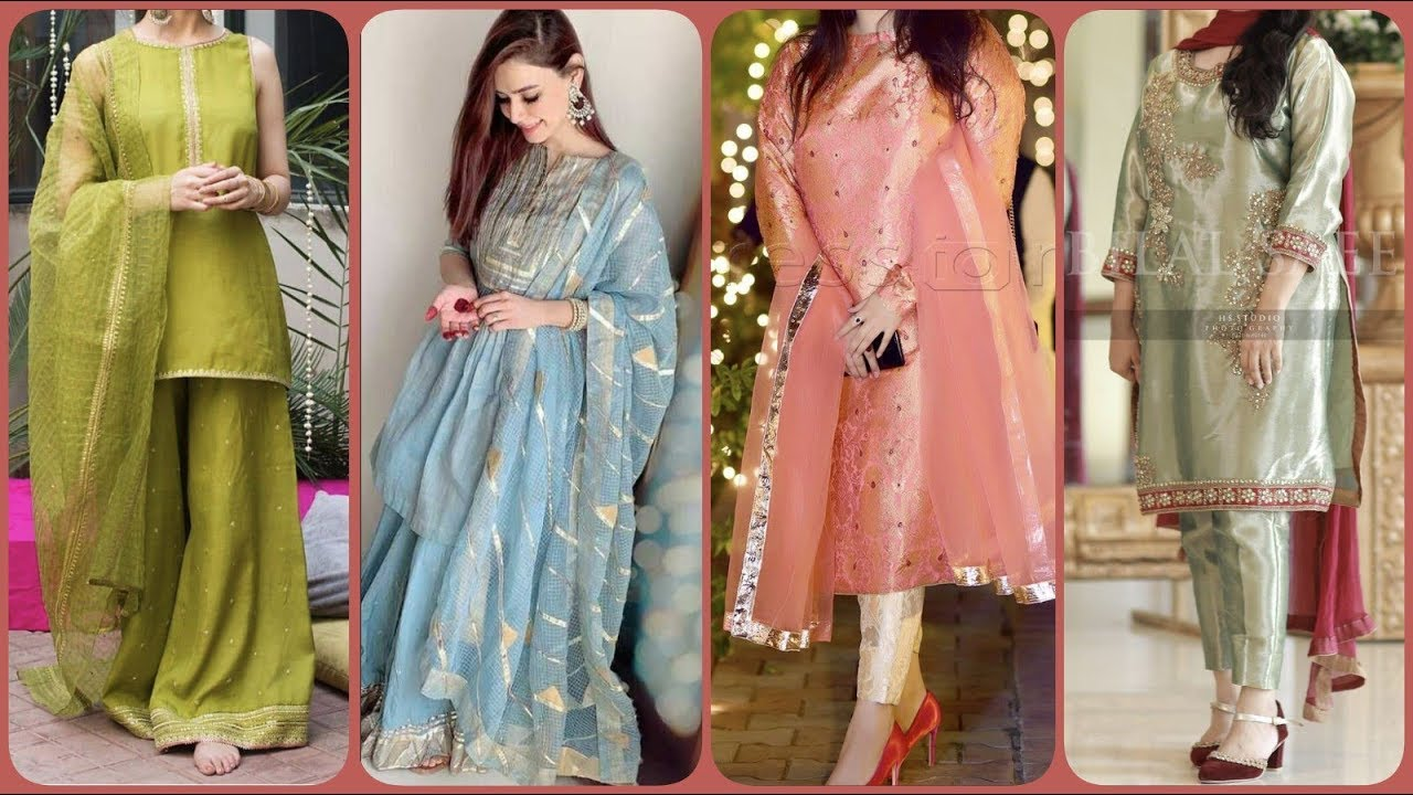 Stylish Trendy Simple Party Wear Designer Dresses Ideas 2019
