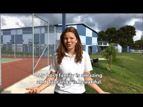 Meret Knapp- German student at Tauranga Girls' College