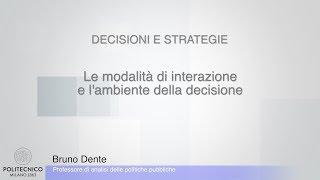 Dente 09 Le modalità di interazione e l'ambiente della decisione