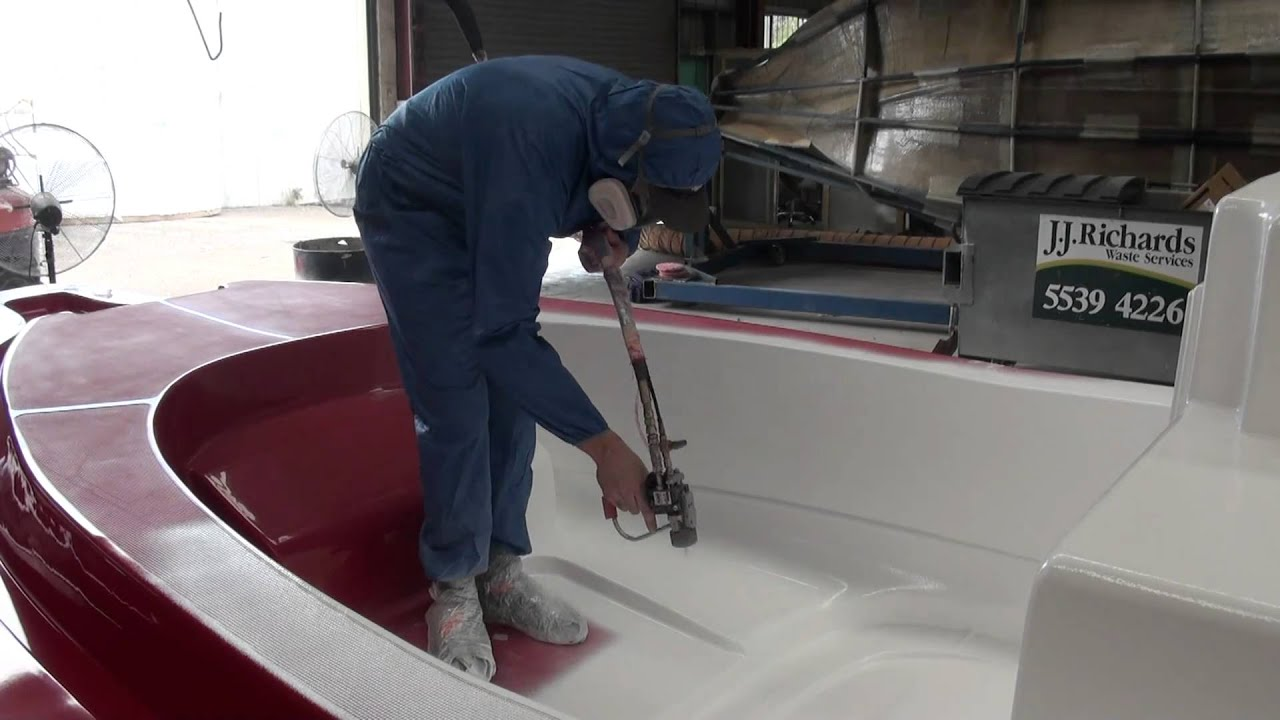 Tailored Marine Apply The First Layer Of Gel Coat To Our Brand New Deck  Mould   YouTube