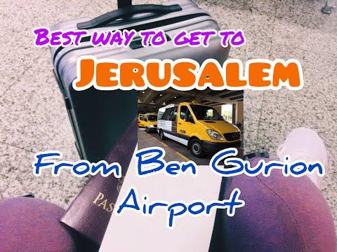 First Time In Israel- (Tel Aviv) Ben Gurion Airport To Jerusalem