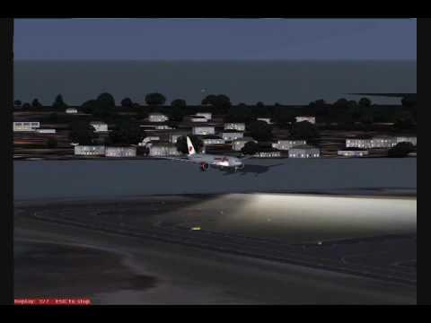 Canadian Xpress Boeing 777-200LR Landing Runway 27 Boston (KBOS)