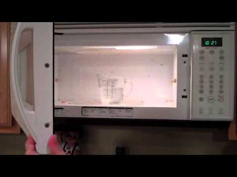 BEST way to CLEAN a MICROWAVE EASY!