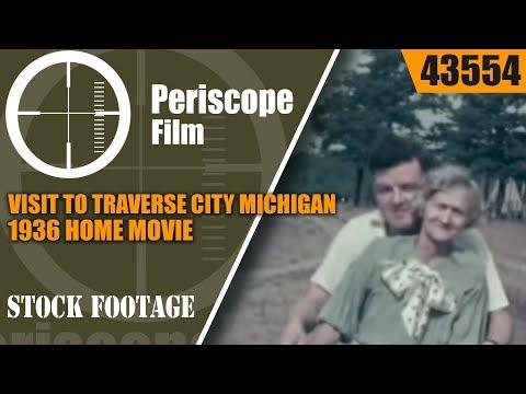 VISIT TO TRAVERSE CITY MICHIGAN 1936 HOME MOVIE P-26 PEASHOOTER 43554