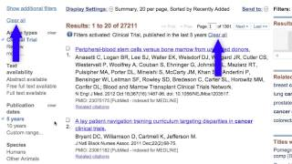 PubMed: The Filters Sidebar