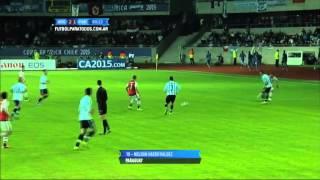 Gol de Haedo Valdez. Argentina 2 - Paraguay 1. Grupo B. Copa América 2015. FPT.