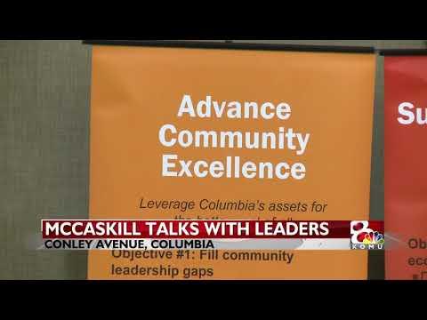 KOMU: McCaskill talks opioids, infrastructure, rural broadband with Columbia business leaders
