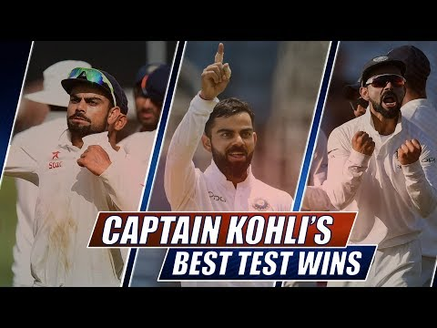 Captain Kohli's Top-5 Test Wins