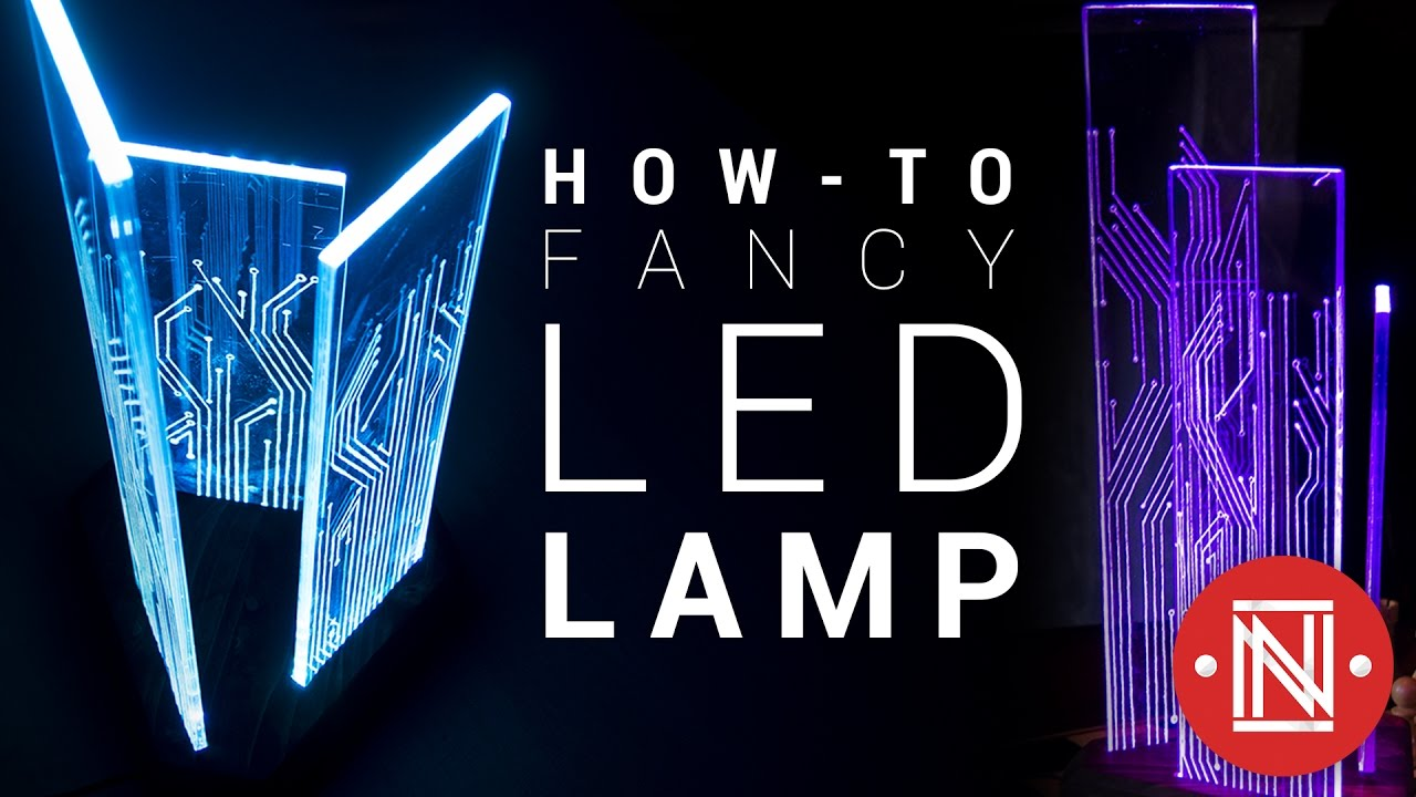 Amazing Color-Changing Acrylic LED Lamp! - YouTube for Diy Acrylic Lamp  146hul